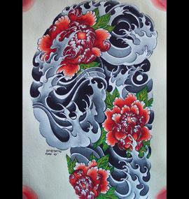 Dessin Tatoo Japonais keithtattoo à lyon spécialiste tatouage japonais - asiatique